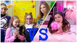 Haschak Sisters VS Sophia Grace | Gossip Girl X Girl In The Mirror ft. Silento width=
