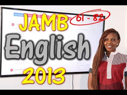 JAMB CBT English 2013 Past Questions 61 - 82