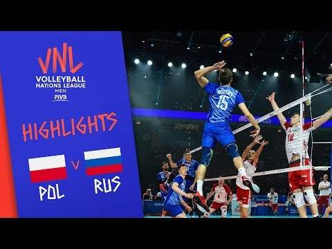 POLAND vs. RUSSIA - Highlights | Semi-Final | Volleyball Nations League 2019