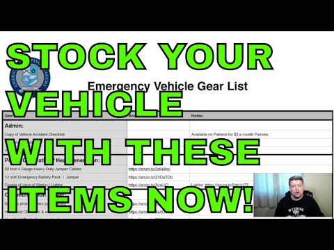 Vehicle Survival Gear List (A Patreon Video)