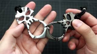 Metal Skull Keychain Cheap Effective Self Defense Tool