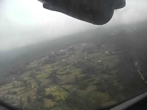Landing at Phaphlu in Nepal
