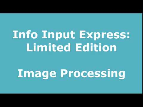 Image Processing l Info Input Express Preview