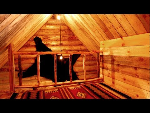 Free DIY Wood Railing in the Loft of an Off Grid Log Cabin | Traditional Woodworking