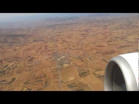 Morocco Oujda airport take off