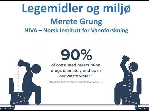 Legemidler og miljø (foredrag av seniorforsker Merete Grung i NIVA)