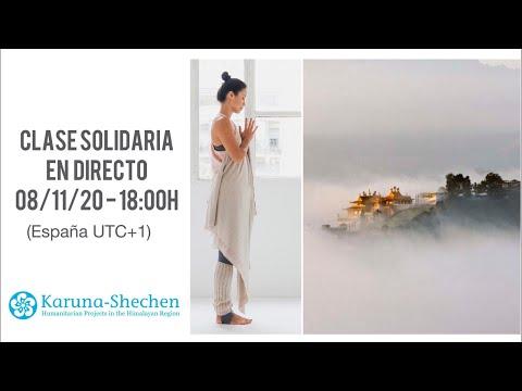 Clase de Yoga solidario en directo