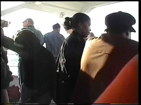 capetown south africa ferry robben island women singing