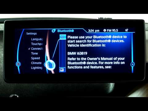 BMW i3 Bluetooth Pairing iPhone