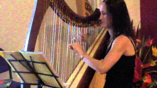"""I'm yours"", Jason Mraz - Harp Cover + Sheet Music"