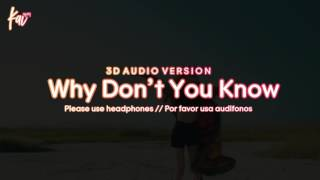 CHUNG HA 청하 - Why Don't You Know (3D Audio Version)