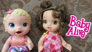 BABY ALIVE Ready for School and Snackin Lily Dolls share clothes + lots more small clothes for them!