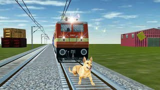Crazy Dog STOPS the Train and escapes Indian Railways in Trainzimulator