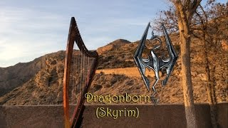 [Harp cover] Dragonborn (Skyrim OST) - Jeremy Soule