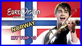 Norway in Eurovision - My Top 10 [2000 - 2018]