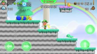 Lep's World 3, Sky Land, Level 5-19 walkthrough  with 3 Gold Pots (Android, iOS game app)