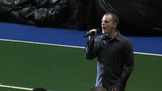 Matt Wolfe Singing National Anthem @ Mahoning Valley Thunder Game