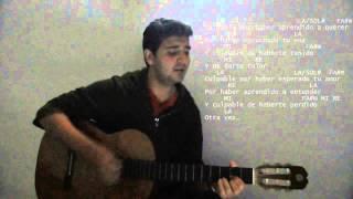 Culpable- Lagarto Amarillo  ( Cover + Acordes Guitarra)