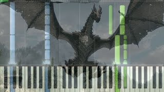 Watch the Skies Piano Tutorial (Skyrim OST)