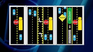 No olvide detenerse cuando el Bus escolar despliegue la señal de STOP