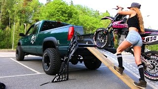 Saaraazh - How To Load a Motorcycle Into a Truck - Girl Edition