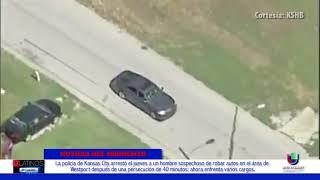 La Policía de KC arrestó a un sospechoso de robar automóviles luego de una tenaz persecución