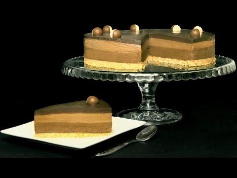 Cheesecake cu ciocolata si nutella | Cheesecake fara coacere