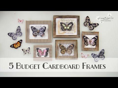 5 DIY Budget Mini Cardboard Vintage Frames ♡ Maremi's Small Art ♡