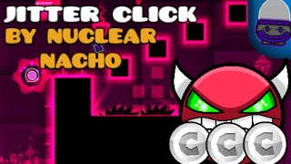 Geometry Dash - JitterClick - Nuclear Nacho (VERY EASY DEMON) (ALL COINS) [2.01] [iPad Gameplay]