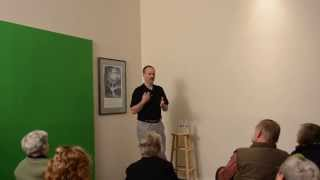 Will Shortz puzzles the crowd at KTOO
