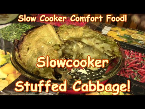 Slow Cooker Stuffed Cabbage!