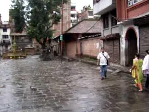 Plaza tranquila en Kathmandu