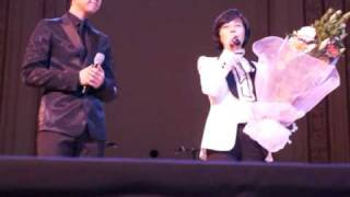[fan video] Lee Seung Gi and Lee Sun Hee at Carnegie Hall, New York  (conversation)