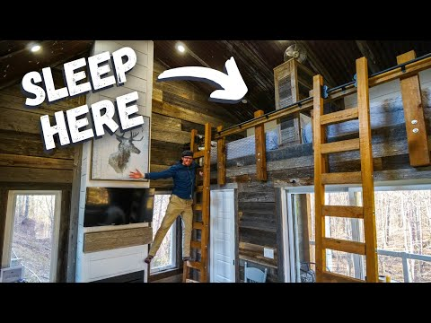 Staying in a TINY HOUSE by the BEACH 🐚🏖️ | Tour of BUNKIE with Loft Bed in Ontario, Canada!