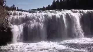 Cave Falls, Yellowstone National Park width=