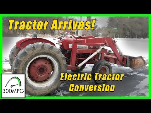 Tractor Arrives: Electric Conversion International 300 Utility
