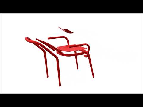 Ineke Hans' chair for the Kunsthalle Wien uses manual and digital production techniques