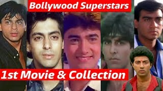 Bollywood SUPERSTAR's 1st Movie & Collection | Srk, Salman, Aamir, Akshay, Ajay, Sunny