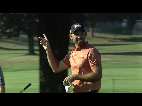 Charl Schwartzel holes out for eagle at The Barclays