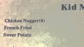 Chicken Nugger French Fried Sweer Potato Kids Menu