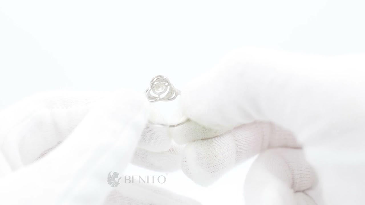Filippa Ring White Zircon Stone