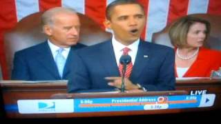 SHAPESHIFTER ON LIVE OBAMA SPEECH SEP.09,2009 REAL NOT FAKE