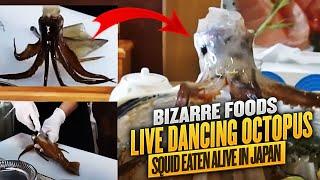 Live Dancing Octopus / Squid Eaten alive in Japan