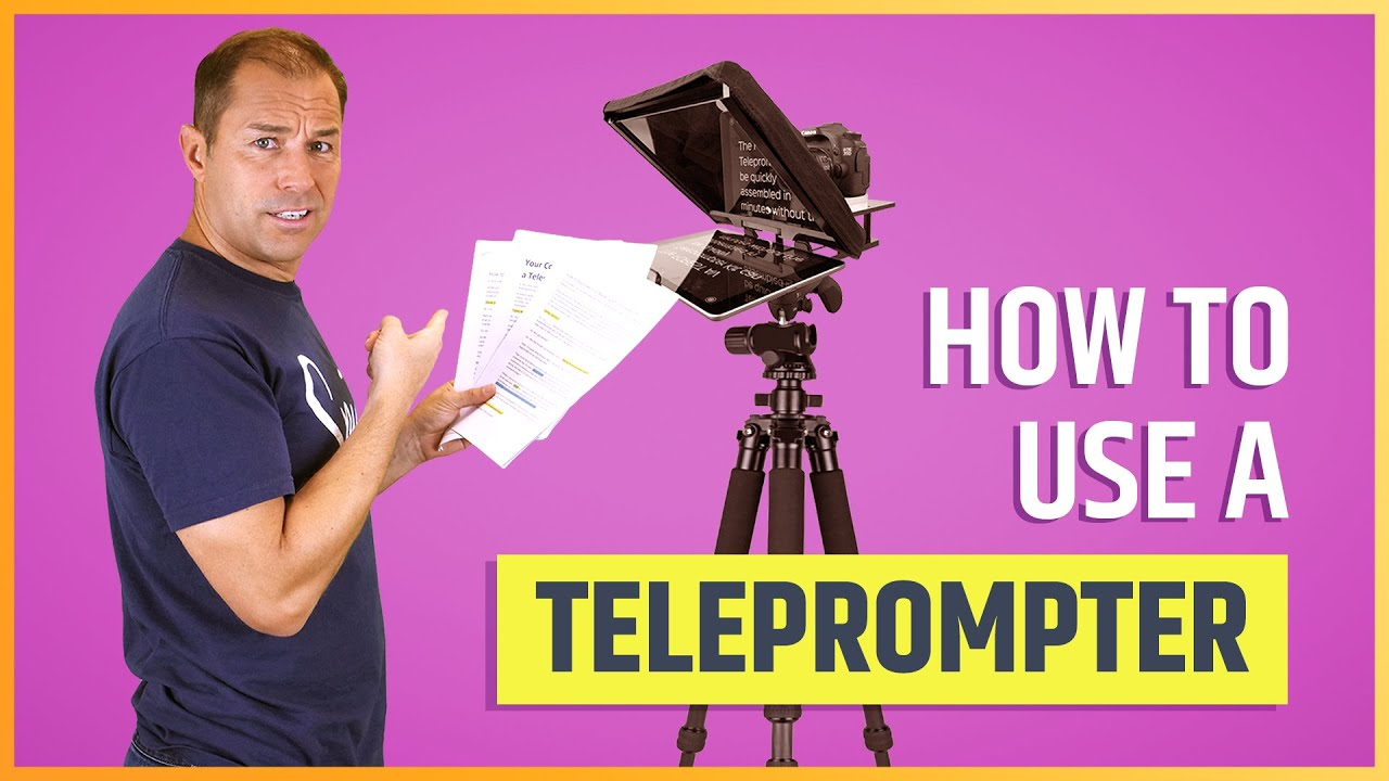 Your Complete Guide to Using a Teleprompter