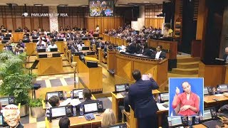 Opposition Disrupt Gigaba's Budget Speech