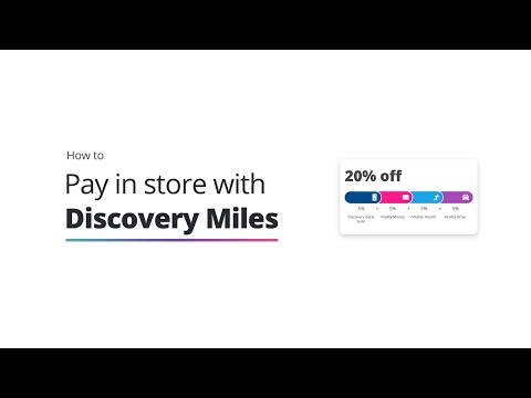 How to pay in store with Discovery Miles