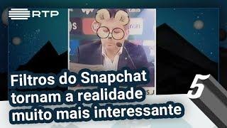 Filtros do Snapchat tornam a realidade muito mais interessante | 5 Para a Meia-Noite | RTP
