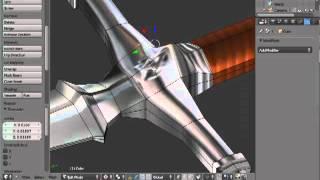 Blender - Modeling a 3d sword timelapse