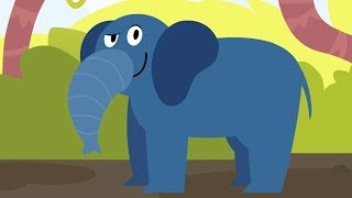 Learn about Animals - Otto's Walk - A Tiger, a Monkey and an Elephant - Funny Animals | Cartoons
