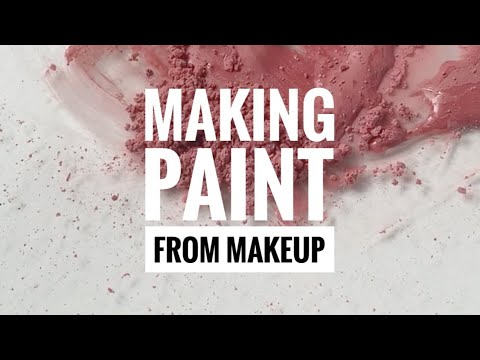 Making Watercolour Paint From Makeup #shorts